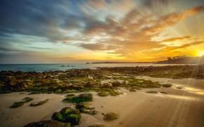 Картинка побережье, Франция, Бретань