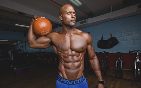 Картинка ball, pose, abs, Curin Wilkerson