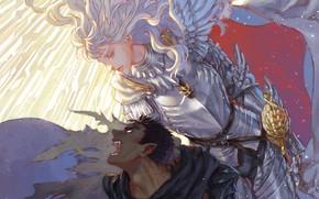 Картинка demon, sword, game, armor, devil, anime, man, fight, ken, blade, Berserk, evil, manga, powerful, strong, …