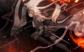 Картинка giant, anime, big, kyojin, sword, tekai, ken, weapon, flag, armor, warrior, Fate, oppai, light novel, …