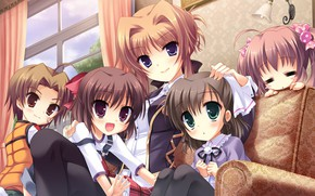 Картинка girl, happy, anime, kid, japanese, Midori no Uni