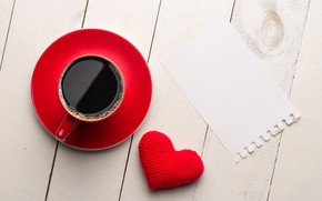 Картинка сердце, кофе, чашка, red, love, heart, cup, romantic, valentine's day, coffee
