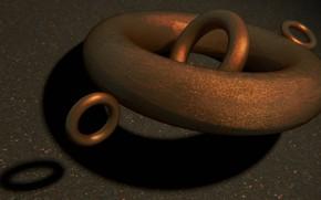 Картинка art, asphalt, rings, copper, blender3d