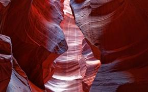 Картинка свет, краски, Аризона, ущелье, США, каньон антилопы