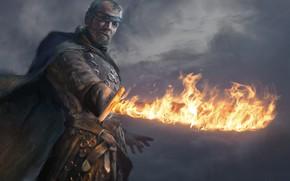 Картинка огонь, меч, сериал, art, A Song of Ice and Fire, Game of Thrones, одноглазый, hbo, …
