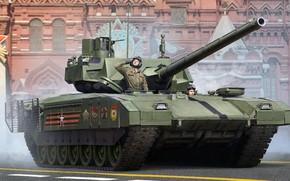 Обои парад, красная площадь, основной боевой танк, Армата, Т-14, проект новейшего российского основного танка