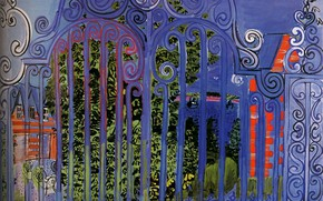 Картинка New York, 1930, Grille, The Grid, Huile sur Toile, Collection Evelyn Sharp, Raoul Dufy La