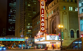 Картинка car, авто, здание, сооружение, Город, Чикаго, City, такси, Chicago, taxi, building, structure