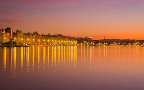 Картинка twilight, sunset, hills, dusk, Brasil, Santa Catarina, Florianópolis