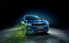 Картинка Alpina, BMW, background, черный фон, XD3, бмв, G01, Allrad