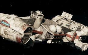 Картинка космос, звездолет, шутер, EA DICE, Star Wars Battlefront 2