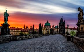 Обои Карлов мост, Чехия, Прага, Nove Mesto