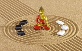 Обои философия, камень, Дзен, Zen, energy, Япония, philosophy, sand monk, песочный монах, сад, garden, Japan, энергия, ...
