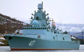 Картинка фрегат, вмф, сторожевой корабль, адмирал горшков