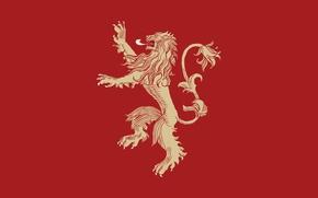 Картинка минимализм, лев, книга, сериал, герб, A Song of Ice and Fire, игра престолов, Игра престолов, …