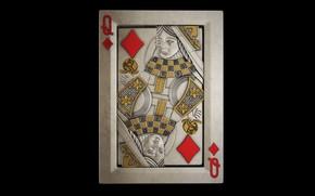 Картинка металл, карта, бубновая дама
