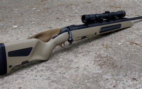Картинка оружие, gun, винтовка, weapon, снайперская винтовка, rifle, sniper rifle, Scout, Скаут, Steyr, Steyr scout