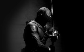 Картинка dark, sword, art, ninja, hero, G.I. Joe, snake eye