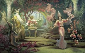 Картинка древность, Борис ОЛЬШАНСКИЙ, былая жизнь славян, Садко в подводном царстве