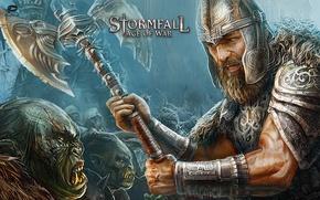 Картинка armor, legion, Stormfall, evil, helmet, ork, weapon, Stormfall Age Of War, axe, guardian, man, horde, …
