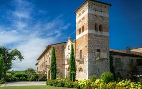 Картинка небо, Италия, храм, Italy, Temples, Kloster San Vigilio