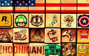 Картинка Logo, Rockstar Games, Blocks