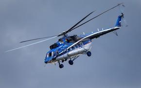 Картинка полёт, вертолёт, летит, лопасти, Mi-171A2