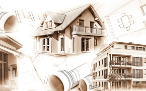 Обои design, architecture, table, interiors, Construction, engineering, housing, plans, projects, soil movement