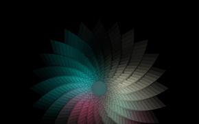 Картинка абстракция, обои, радуга, спектр, фигура, wallpaper, colourful, backgrounds, ячейки
