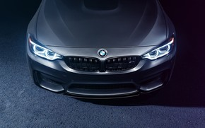 Обои Silver, BMW, Face, F82