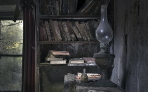 Картинка книги, лампа, библиотека