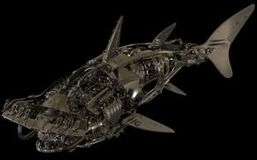 Картинка металл, детали, акула молот