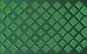 Обои green, square, background, shades