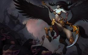 Картинка крылья, коса, Brawl, уроды, чудовища
