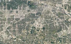 Картинка Houston, снимок из космоса, Техас, Хьюстон