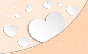 Обои бумага, фон, сердце, текстура, wallpaper, hearts, paper