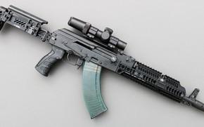 Обои оружие, тюнинг, автомат, weapon, кастом, custom, Калашников, АКМ, Русский, AKM, штурмовая винтовка, assault Rifle