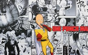 Картинка аниме, аниме обои, One-Punch Man, сайтама