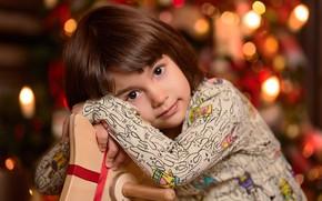Картинка взгляд, игрушка, девочка, ребёнок, боке, лошадка