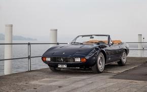 Картинка Черный, Ретро, Кабриолет, 1971, Ferrari, Автомобиль, 365, Металлик, GTC4, Spyder Pininfarina