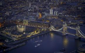 Обои город, ночь, Лондон