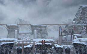 Картинка мост, сооружения, Battle Frontier, Snow Mountains