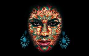Картинка украшения, фон, макияж, грим
