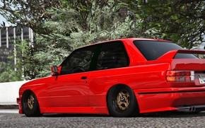 Картинка красный, город, BMW, Turn 10 Studios, Forza 7