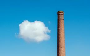 Картинка небо, облако, труба