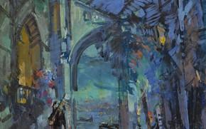 Картинка картина, Венеция, импрессионизм, городской пейзаж, Константин Коровин
