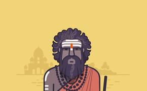 Картинка азия, Индия, мечеть, йог, Индус
