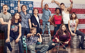 Обои постер, Emmy Rossum, Shameless, Jeremy Allen White, Emma Kenney, William H. Macy, Cameron Monaghan, Ethan ...