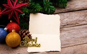 Картинка шары, Новый Год, Рождество, wood, merry christmas, decoration, xmas, fir tree