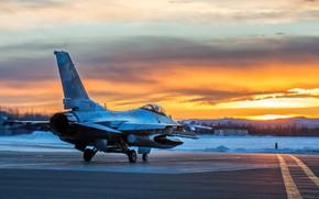Картинка F-16, Fighting Falcon, General Dynamics, истребитель четвёртого поколения, американский многофункциональный лёгкий, 354th Fighter Wing, Aggressor …